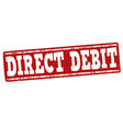 direct debit grunge rubber stamp on white vector image vector image