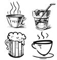 Drink icons hand drawing set vector image vector image