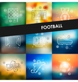 football timeline infographics with blurred vector image