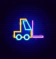 forklift neon sign vector image