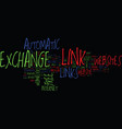 free automatic link exchange text background word vector image vector image