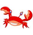 funny crab cartoon posing vector image vector image