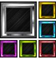 glossy frames vector image