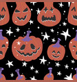 halloween seamless bright kids doodle pattern the vector image vector image
