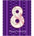 Happy birthday eight card vector image