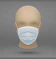 head with medical face mask vector image vector image