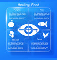 healthy food infographics puzzle design vector image vector image