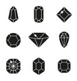 jewels or precious diamonds gem set vector image vector image