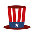 memorial day flag top hat decoration american vector image