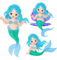 mermaid baby set vector image