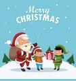 merry christmas cartoon vector image vector image
