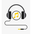 music headset vector image vector image