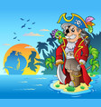 noble corsair standing on island vector image vector image
