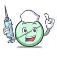 nurse drug tablet character cartoon vector image