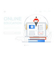online education - modern colorful flat design vector image