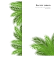 palm template vector image vector image