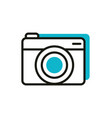 photo camera social media icon line and fill vector image vector image