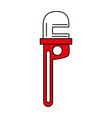 pipe wrench vector image