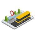 Public Transport Bus Stop with Online Schedule vector image vector image