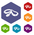 red milk snake icons hexahedron vector image vector image