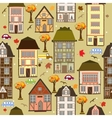 Seamless pattern with autumn city vector image vector image