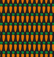 seamless pattern with carrots vector image vector image