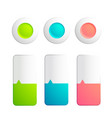 set buttons and strips collection vector image vector image
