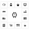set of 13 editable travel icons includes symbols vector image vector image