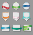 Set of banners with ribbon vector image vector image