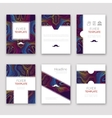 Set of brochures in Lines Pattern Style Beautiful vector image vector image