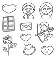 set of valentine cartoon vector image