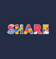 share concept word art vector image