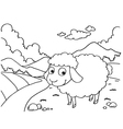 Sheep Colouring Pages vector image vector image