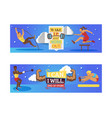 sport inspiration and workout banner vector image