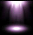 spotlight purple color vector image
