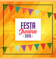 traditional festa junina decorative banner vector image vector image