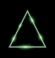 triangle with lights and sparkles green color vector image
