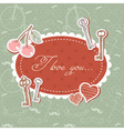 Valentine romantic love card with keys and hearts vector image vector image