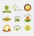 variety of farm logotypes vector image vector image