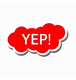 Yep in red cloud icon simple style vector image vector image