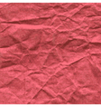 Background of crumpled paper in red color vector image