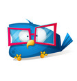 funny bird in the sunglasses cartoon vector image