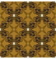 Linear ornament in art deco style in old gold vector image