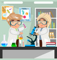 scientists men and women working at science lab vector image