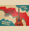 268guitar contest poster vector image