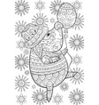 adult coloring bookpage a cute pig with hat and vector image vector image