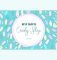artistic banner brush stroke candy shop vector image