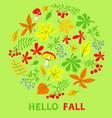 autumn floral card fall season with vector image vector image
