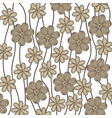 background in grayscale of creepers with flowers vector image vector image