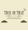 background style halloween with pumpkin vector image vector image